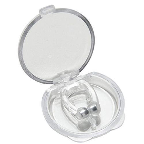 Easyeeasy Clip antirronquidos para dormir, mini tapón magnético portátil de silicona para ronquidos, dispositivo antirronquidos, pinza para la nariz para hombres y mujeres