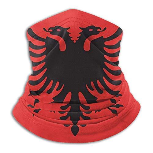 Bandera albanesa Eagle Bird Design Mascarilla Bandana para Sun Dust Wind Diadema para hombres Mujeres Neck Gaiter Rave Face Mask