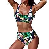 Poachers bañadores de Mujer Natacion 2 Piezas sujecion Traje de baño Mujer Cintura Alta Bikinis Mujer 2019 Push up Tanga Traje de baño Mujer Sexy Bikinis Mujer 2019 Braga Alta Ropa de baño