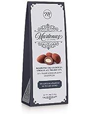 Mi&Cu Gourmet - Marlonas Dark Gianduja Chocolate Negro 70% Sin Azúcar 80 gr [Pack de 3]- Almendras Saladas del Mediterráneo - La Joya de Vilafranca
