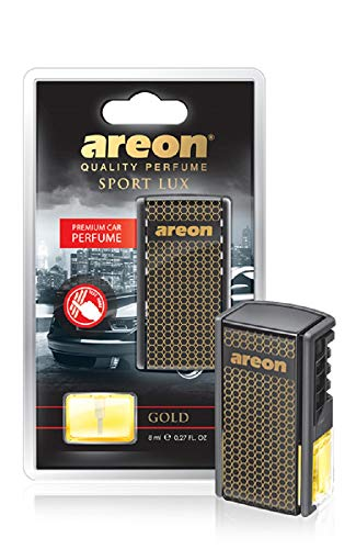 AREON AC01 Car Perfume Luxury and Elegant 0.27 oz Vent Clip Car Air Freshener, Gold Scent (Pack of 6)