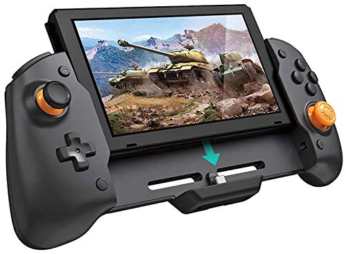 DOBE TNS-19252C Grip in-line Gamepad, Plug and Play, for N- Switch NS, can Charge and Play Games at The Same time, with six-axis Gyroscope Gravity Sensing, Dual-Motor Vibration with Storage Bag
