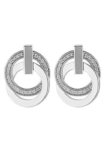 JETTE Silver Damen-Ohrstecker 925er Silber 58 Zirkonia One Size 86735504