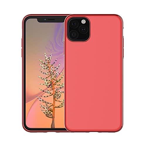 ZZKHFA Magnete Morbido TPU Antiurto Custodia Per IPhone SE 2020 11 Pro XS Max XR 8 7 6S Plus Cover Magnetica Ultra Sottile Telefono Dell'automobile (Colore: Rosso, Materiale: Per iPhone 7 Plus)