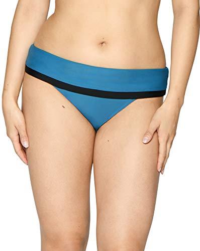 Curvy Kate Damen Rock The Pool Foldover Brief Bikinihose, blau (Petrol Blue), 42