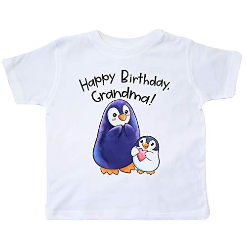 inktastic Happy Birthday, Grandma- Cute Penguins Toddler T-Shirt 4T White 3b588