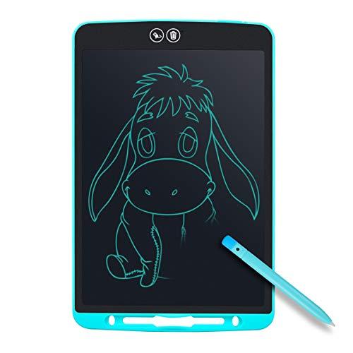Tyhbelle Teilweise Löschbares Writing Tablet,12 Zoll Elektronisch LCD Schreibtafel mit Anti-Clearance Funktion,Stift papierlos für Schreiben Malen Notizen Super als Geschenke (Hellblau)