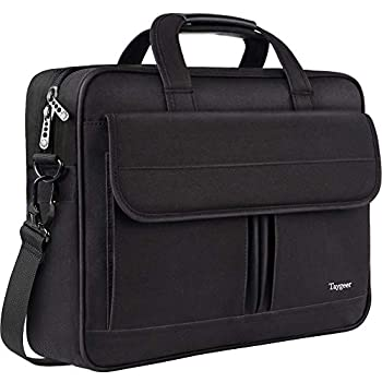 Laptop Bag 15.6 Inch Business Briefcase for Men Women 15inch Water Resistant Messenger Shoulder Bag with Strap Durable Office Bag Taygeer Carry On Handle Case for Computer/Notebook/MacBook,Black