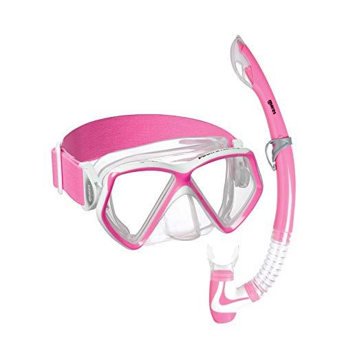 Mares Piraten-Neonmaske und Schnorchel Combo Set – Farbe wählbar (Neon Pink)