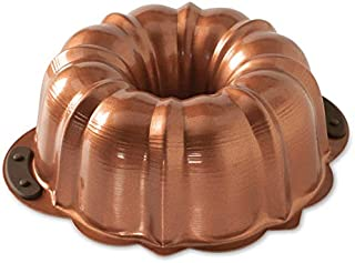 Nordic Ware 50343 Copper Bundt Pan With Silicone Grips, 12 Cup
