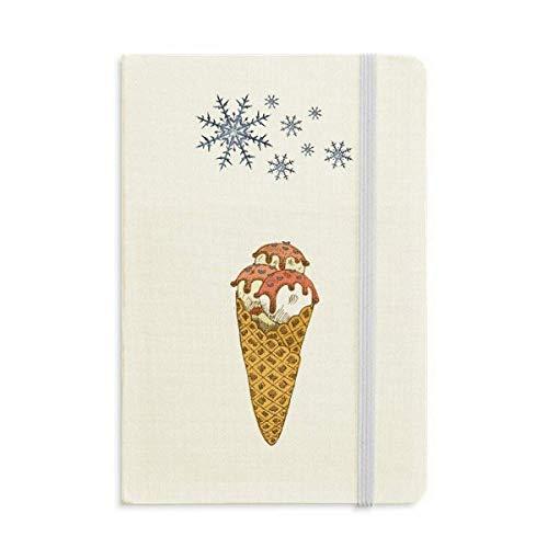 Cuaderno de bolas de helado con forma de huevo, color rojo y...