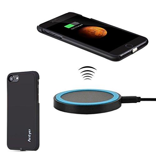 Antye Kit Qi caricatore senza fili per iPhone 7 (2016), anche wireless Ricevitore caso di ricarica con staccabile Fulmine connettore e Wireless Charging Pad