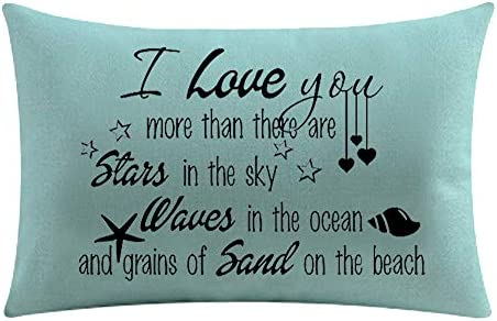 Beach Quote I Love You More Than There Are Stars In The Sky Waves In The Ocean And Grains Of product image