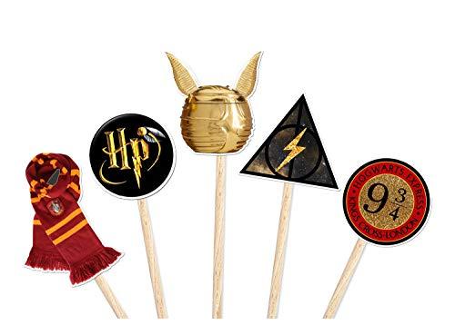 Coco&Bo - 10 x Magdalenas mágicas para la Fiesta de Potter - Harry Potter inspiró Las Decoraciones de la Fiesta de la Escuela de Hogwarts