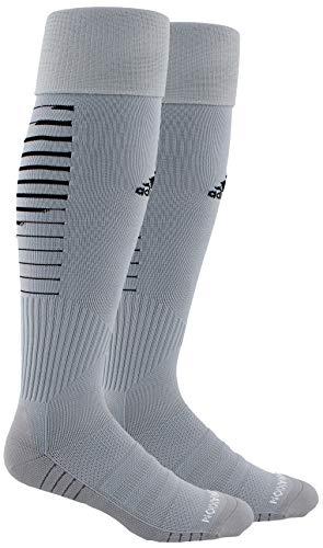 adidas Unisex Team Speed II Soccer Socks, (1-Pair), Light Grey/Black/Light Onix, 9-13