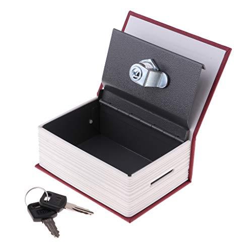 chiwanji Caja de Seguridad para Llaves con Combinación Forma de Libro - Rojo