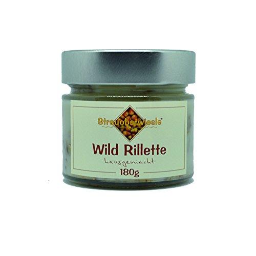 Streuobstwiesle Wild Rillette - 180 g - Exquisites Wildrillette mit echtem Wild aus heimischer Jagd nach traditioneller, französischer Art hergestellt
