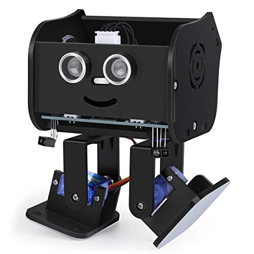 ELEGOO Kit de Robot bipède Penguin Bot pour Projet Arduino avec Tutoriel d'assemblage, kit STEM pour Amateurs Jouets STEM pour Enfants et Adultes, Version Noir V2.0