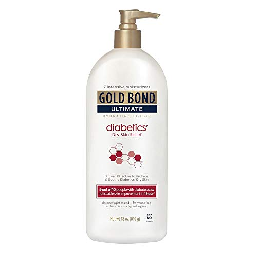 Gold Bond Ultimate Hydrating Lotion, Diabetics Dry Skin Relief 18 Ounce (Value Pack of 5)