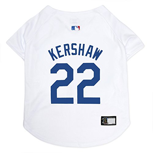 MLBPA Dog Jersey - Clayton Kershaw #22 Pet Jersey - MLB Los Angeles Dodgers Mesh Jersey, Medium