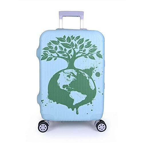 Cubierta de Equipaje Funda de Maleta L:26-28 Inch Mundo Verde