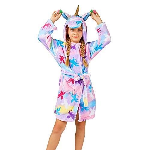 Soft Unicorn Girl Bathrobe Hoodie, Unisex -$9.37(33% Off with code)