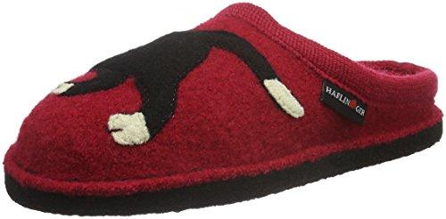 Haflinger Unisex-Erwachsene Flair Babsy Pantoffeln, Rot (Ziegelrot 85), 36 EU