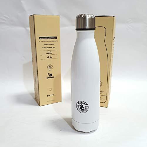 gesco Borraccia Alluminio Bianco 500 ML