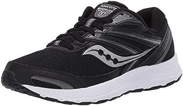 Saucony Women's Cohesion 13 Walking Shoe, Black/White, 10 M US