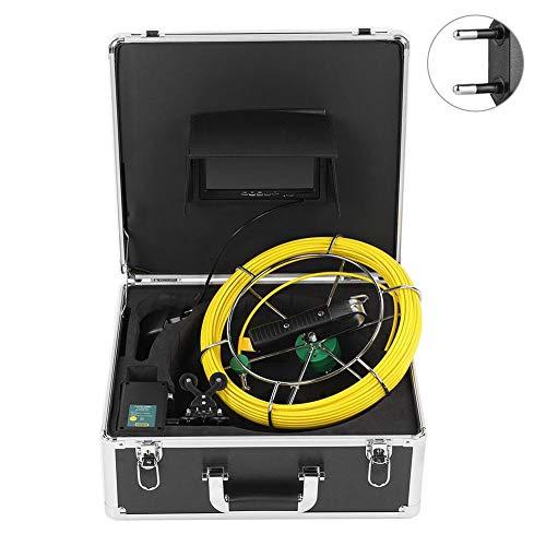 Endoscopio de tubería Cámara Dual Cable de 30 Metros Video de inspección de tubería Impermeable para reparación(European regulations)