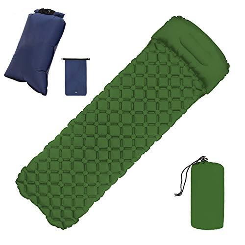 Colchón al aire libre con almohada de llenado rápido portátil cojín de dormir Picnic compacto colchón de aire para camping mochilero