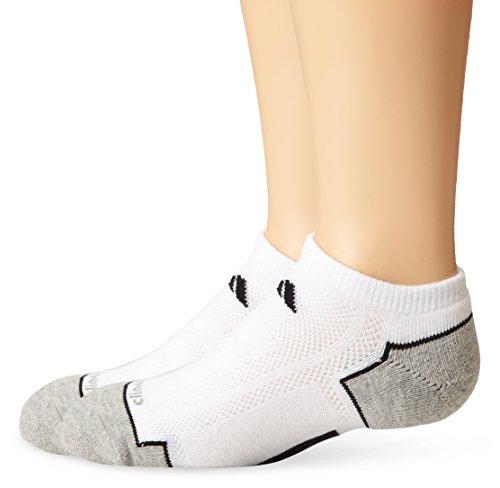 adidas Boys / Youth Climacool II No Show Socks (2-Pack), White/Black/Aluminum 2, Large/3-9