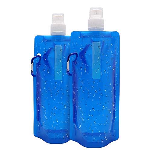 給水袋 給水バッグ 折りたたみ 水分補給 非常用 アウトドア用品 貯水バッグ 旅行 登山 スポーツ アウトドア用 500ml 2セット