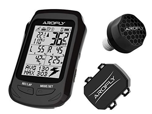 AROFLY Elite A1 - El medidor de potencia más pequeño y económico, con exclusivo ordenador GPS, compatible con Strava.
