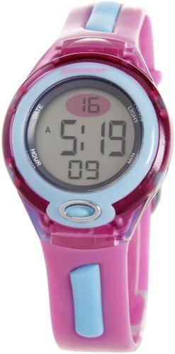 Dunlop DGAME3 - Reloj digital de mujer de cuarzo con correa de goma rosa (luz) - sumergible a 50 metros