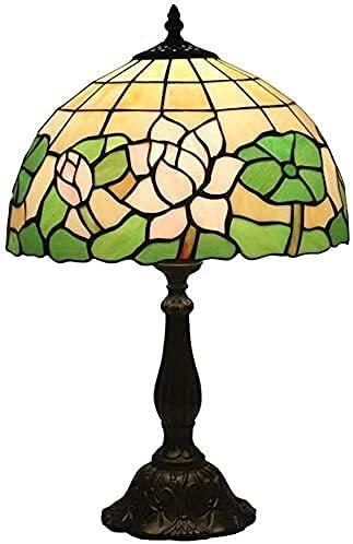 TOPNIU Lámparas de Escritorio de vidrieras para Oficina Tiffany Lámpara de Mesa Retro Pastorale Creativo Dormitorio Noche Sala de Estar Restaurante Bar Café Lámpara de Mesa