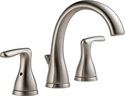 Peerless Widespread Bathroom Faucet Brushed Nickel, Bathroom Faucet 3 Hole, Bathroom Sink Faucet, Drain Assembly, Brushed Nickel P99137LF-BN