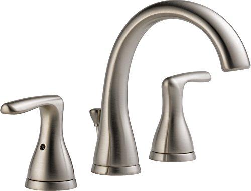 Peerless Widespread Bathroom Faucet Brushed Nickel, Bathroom Faucet 3 Hole, Bathroom Sink Faucet,...