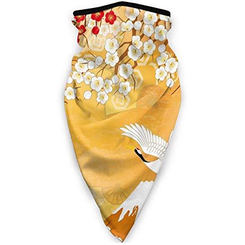 KKs-Shop Bellissimo kimono giapponese sciarpe unisex varietà avvolgere bandana copricapo ghette collo sciarpa testa viso nero SFK-926