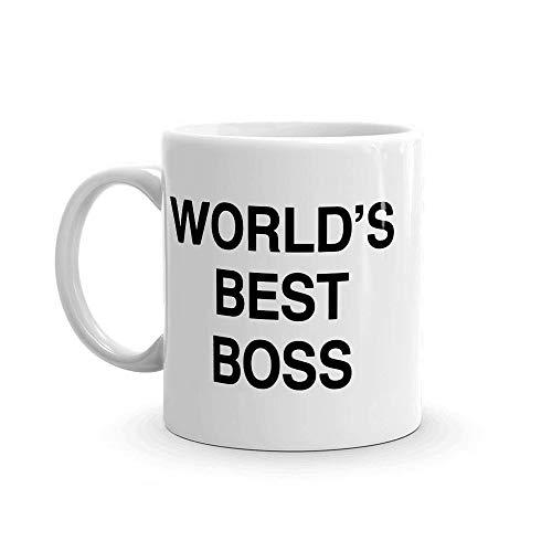 World's Best Boss Funny Coffee Mug - BeBr Bosses Day Gifts Ideas -Novelty...