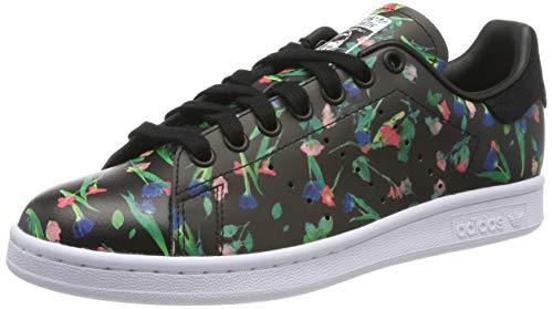 adidas Damen Stan Smith Sneaker, Schwarz (Core Black/Footwear White/Core Black 0), 38 2/3 EU