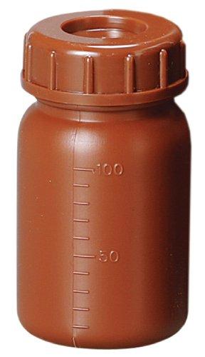 新潟精機 BeHAUS 広口茶色ビン 中栓付 100ml BWB-100