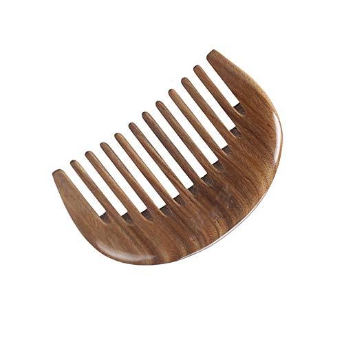 Peigne De Bois De Santal Vert Naturel, Peigne Portable Combs, Méridien De Dragage Antistatique Aux Dents Larges   Cadeaux Peigne A Cheveux