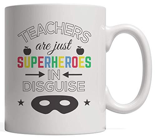 Taza de cermica Taza de superprofesor Taza de novedad Los maestros son superhroes disfrazados Taza de novedad Divertido sarcstico y superhroe de tendencia Regalo para superprofesor que ama la ense