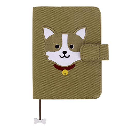 Shengsheng Journal Fabric Notebook A6, Diary Notepad Sketchbook Travel to Write in, Refillable, Journals, for Women Girls Dog Lovers,Record Diary (Color : B+C)