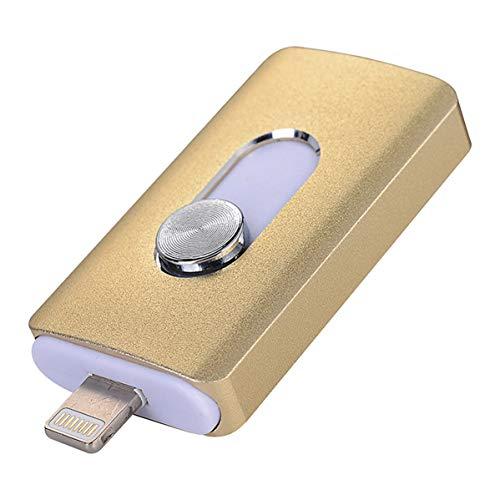 3-in-1 OTG Externer USB-Stick für iPhone 8 / 7 / 6 / 6S / 5 / iPad Samsung Handys rose 256 GB