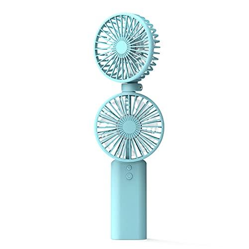 Jiaojie Ventilador portátil de mano de oficina de escritorio estudiante multifuncional silencioso colgante cuello plegable pequeño ventilador eléctrico
