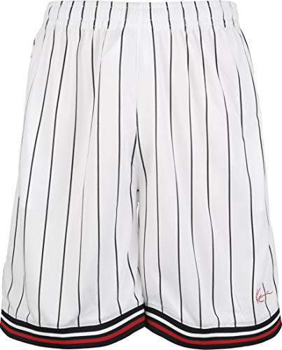 Karl Kani uomo pantaloncino KKMQ12015 KK SIGNATURE MESH SHORTS XS Bianco-nero