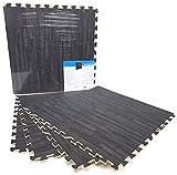LEYENDAS Esterilla Puzzle de Fitness y de Goma Espuma | Set de Protección para el Suelo | Alfombrilla Protectora Expandible | para Máquinas de Deporte y Gimnasios | Fácil de Limpiar (IMIT. C, 60X60)