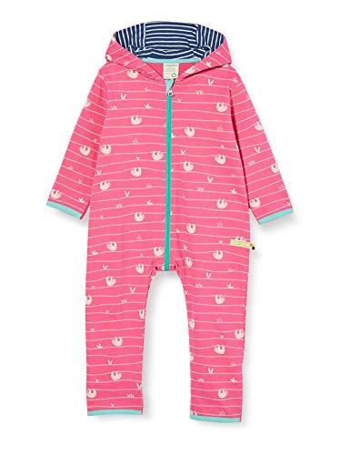 loud + proud Baby-Mädchen Overall Allover Print Organic Cotton Strampler, Rosa (Azalea Aza), (Herstellergröße: 62/68)